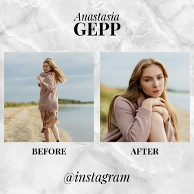 Before After Instagram Fashion Template Instagram-Beitrag
