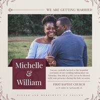 Beige African American Wedding Instagram Imag template