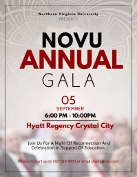 Beige Annual Charity Gala Flyer