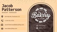 Beige Bakery Manager Business Card Besigheidskaart template