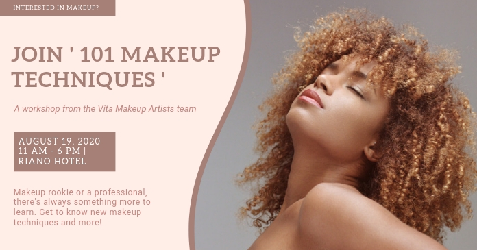 Beige Beauty Event Cover Image template