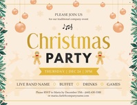 Beige Christmas Party Invitation Volantino (US Letter) template