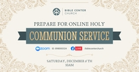 Beige Communion Service Invitation Facebook I Obraz udostępniany na Facebooku template