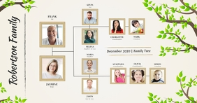 Beige Family Tree Facebook Image template