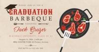 Beige graduation cookout Facebook post template