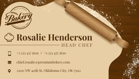 Beige Head Chef Business Card Besigheidskaart template