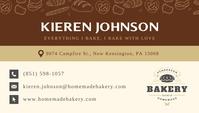 Beige Home Bakery Owner Business Card Tarjeta de Presentación template