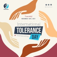 Beige International Day of Tolerance Instagra Instagram-Beitrag template