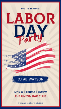 Beige labor day party instagram story template