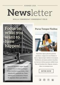 Beige Modern Newsletter A4 template