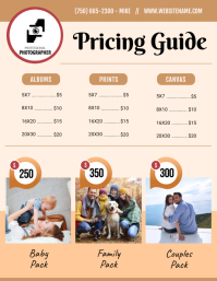 Beige Price List Flyer Template