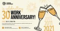 Beige Work Anniversary Invitation Facebook Po template