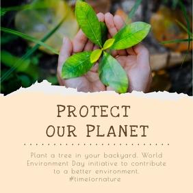 Beige World Environment Day Instagram Image