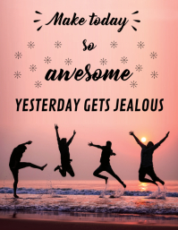Being Awesome Inspirational Poster