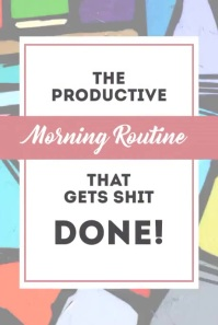 Being Productive Blog Post Pinterest Pin Pinterest-grafik template