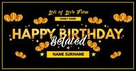 Belated Happy Birthday 2021 Template Изображение, которым поделились на Facebook