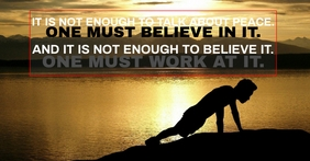 BELIEVE AND PEACE QUOTE TEMPLATE Iklan Facebook