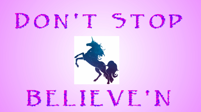 Believe in Unicorns- Desktop Background (#UnicornPride)