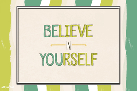 Believe In Yourself Motivational Inspirational Words Poster
