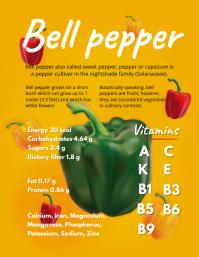 Bell Pepper Vegetables Infographic