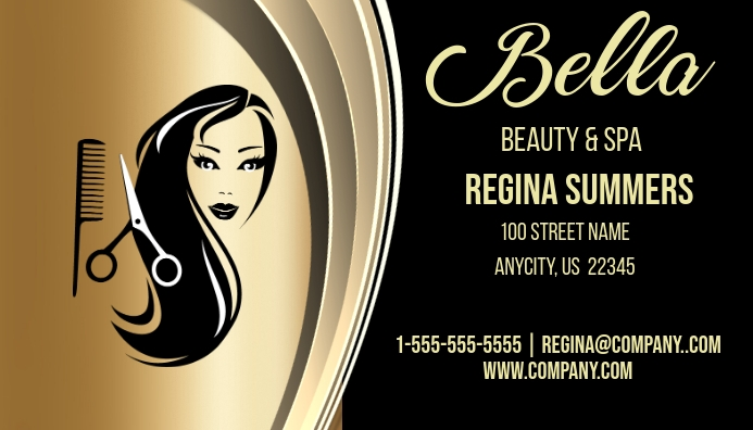 Bella beauty salon spa business card template postermywall bella beauty salon spa business card customize template reheart Images