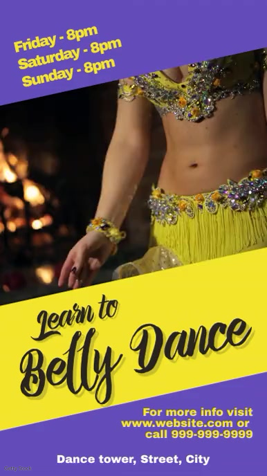 Belly dance Instagram Story template