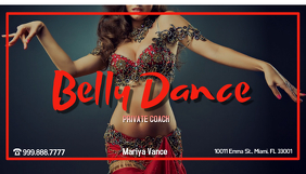 Belly Dance Private Coach Wizytówka template