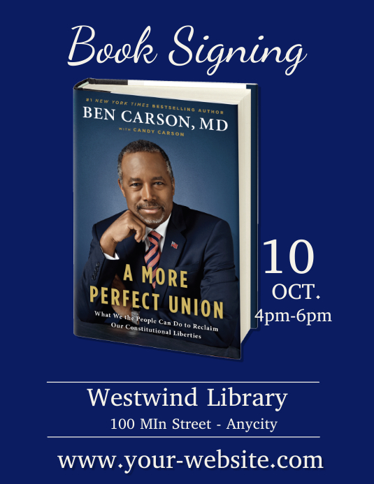 Ben Carson Book Signing Template | PosterMyWall
