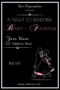Benefit/Fundraiser Dance Poster Template
