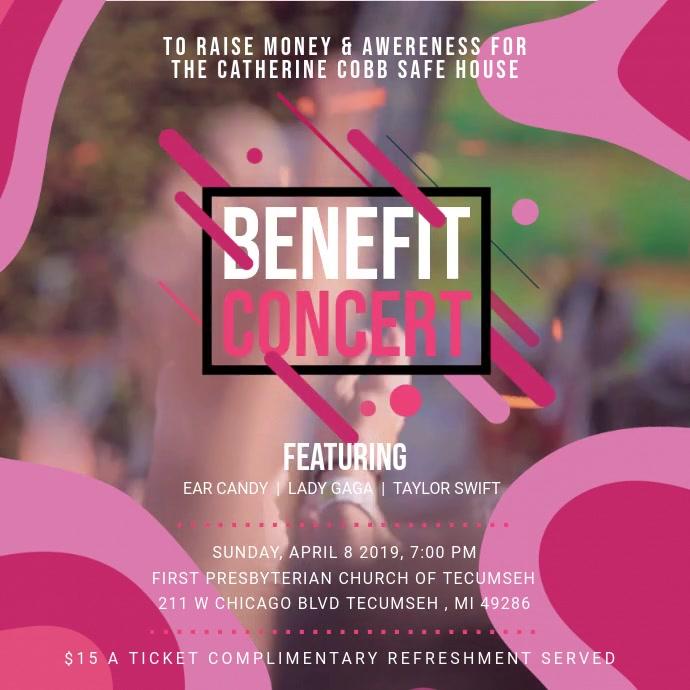 Benefit Musical Concert Square Ad