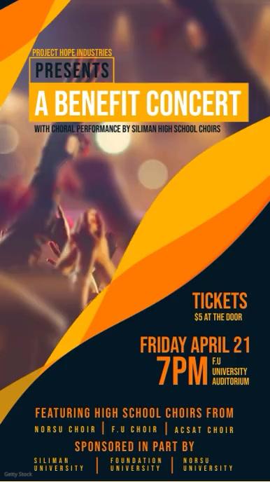 Benefit Rock Concert Digital Banner