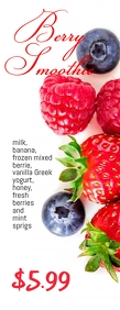 berry smoothie flyer Halv side Letter template