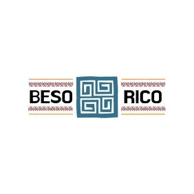 Beso Rico Latin Logo Logotipo template