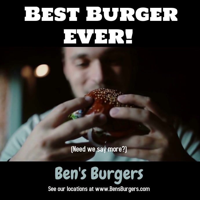Best Burger Ever Video Template