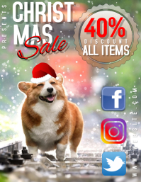 BEST CHRISTMAS SALE FLYER TEMPLATE