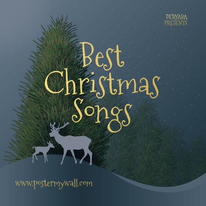 Best Christmas Songs CD Cover Music Sampul Album template