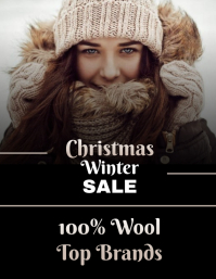 Best Christmas winter sale poster template