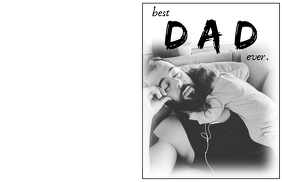Best Dad Ever Father's Day Card Half Page Wide template