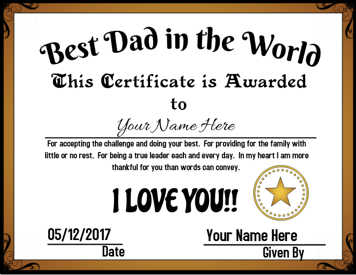 best dad in the world template postermywall