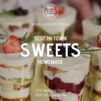 Best desserts in town Instagram Post template