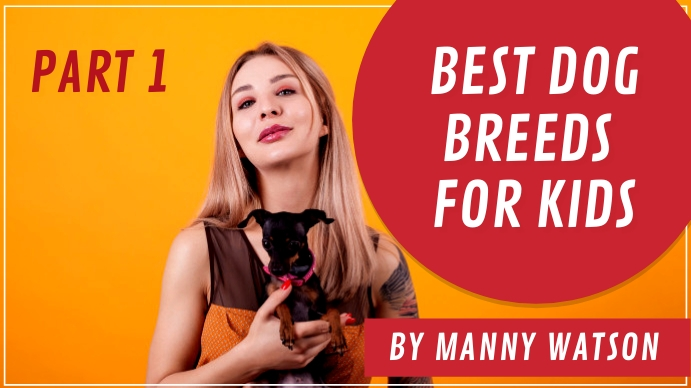Best Dog Breeds Youtube Thumbnail template