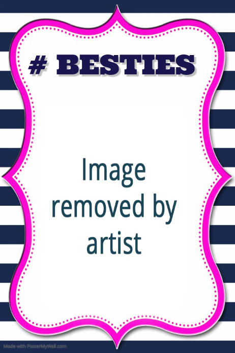 Best Friends Poster Gift Personalized Besties Friendship