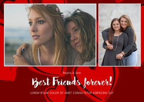Best Friends Valentines Day Card Template Poskaart