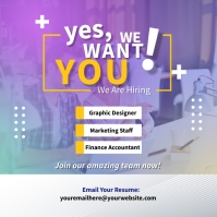 Best Hiring Ads Square (1:1) template