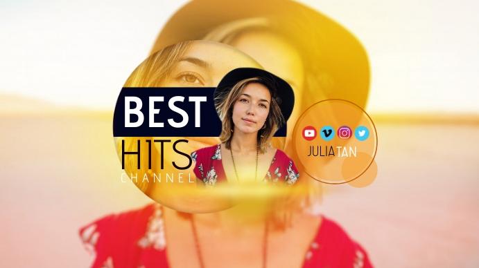 BEST HITS CHANNEL DJ Youtube Art template