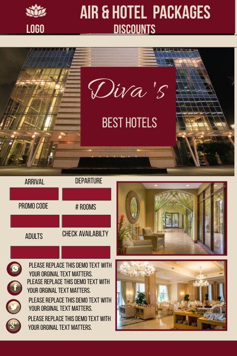 Best Hotel Website Template Postermywall