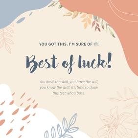 Best of Luck Pastel Instagram Image