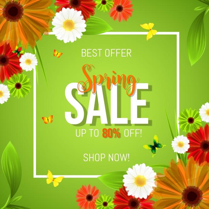 Best Offer Spring Sale Instagram Post template