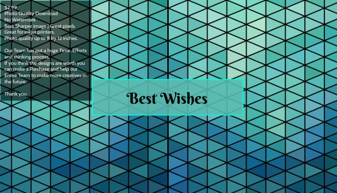 Best wishes poster template cards
