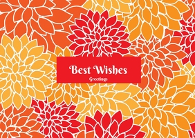 Best wishes premium poster template designs